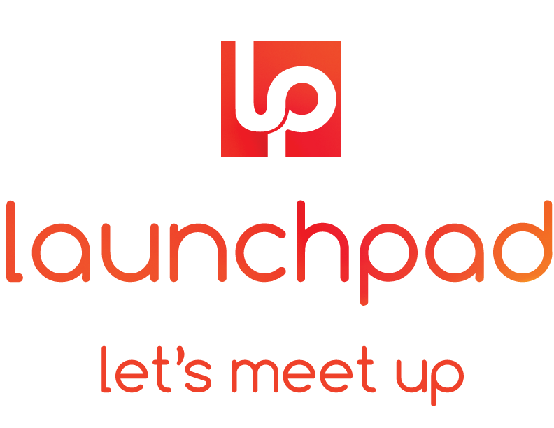 Logo for LaunchPad, a co-working space in Bemidji, MN.